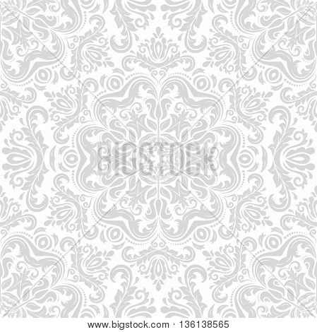 Oriental classic light ornament. Seamless abstract background