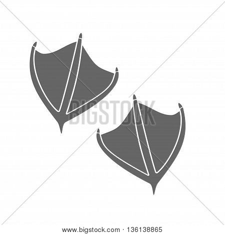 duck footprints on white background. Stock vector illustration
