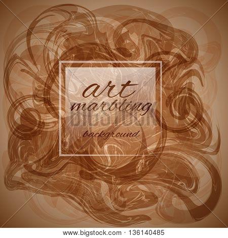 Marbling Vector. Marble background.Marbling art, trendy artwork.