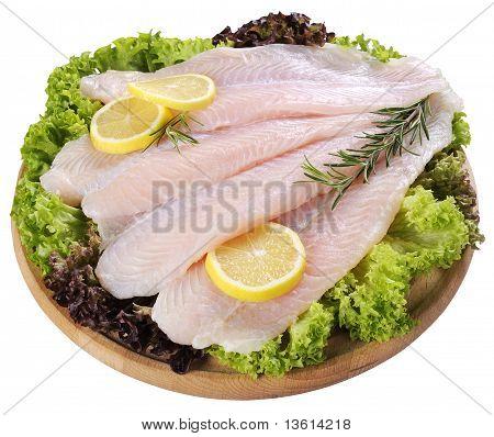 Fresh Fish Fillet And Vegetables