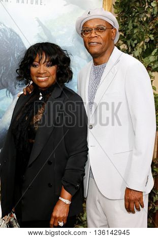 Samuel L. Jackson and LaTanya Richardson at the Los Angeles premiere of 'The Legend Of Tarzan' held at the Dolby Theatre in Hollywood, USA on June 27, 2016.