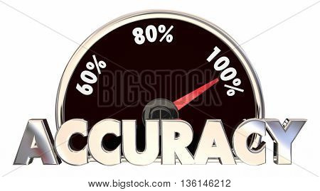 Accuracy Correct Right True Facts Measurement 3d Illustration