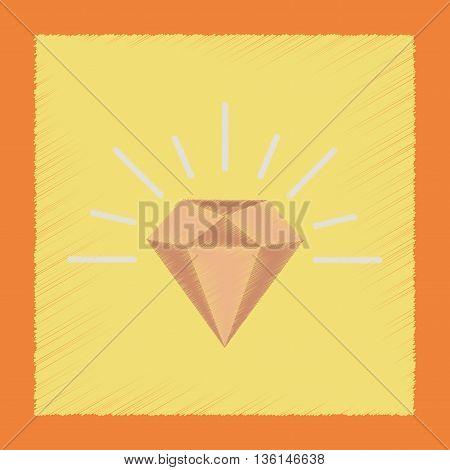 flat shading style icon poker diamond symbol