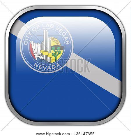 Flag Of Las Vegas, Nevada, Square Glossy Button
