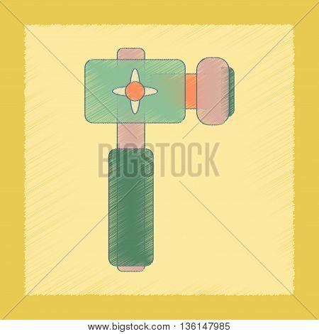 flat shading style icon Kids toy hammer