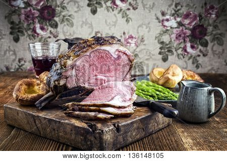 Cold Cuts Rib of Beef with Yorkshire Pudding