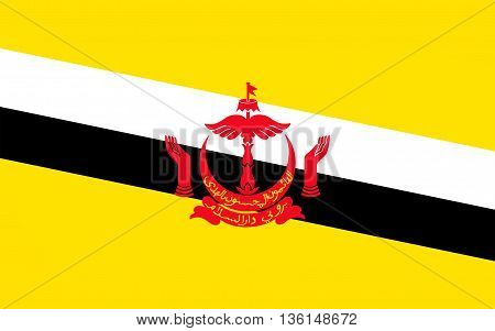 Flag of Brunei officially the Nation of Brunei is a sovereign state located on the north coast of the island of Borneo in Southeast Asia