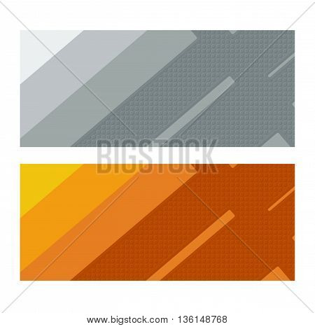 Background material design. Format 2.35:1. Grey and orange abstract illustration.