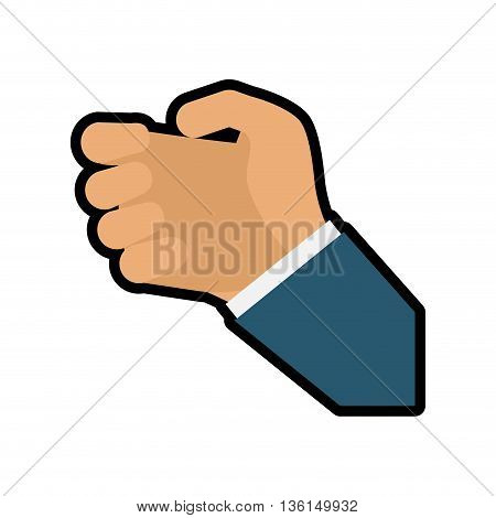 Human hand concept represented by gesture with fingers icon. isolated and flat illustration