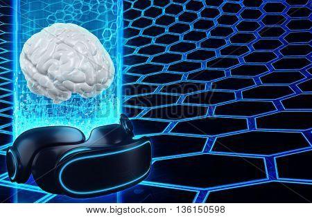 Virtual Reality VR Brain