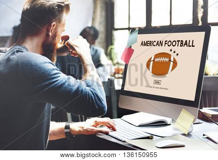American Football Exercise Sport Concept