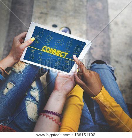 Blog Internet Networking Connect Communication Concept