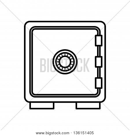 Security system concept represented by strongbox icon. isolated and flat illustration