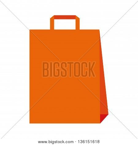 Shopping and commerce concept represented by shopping bag icon. isolated and flat illustration
