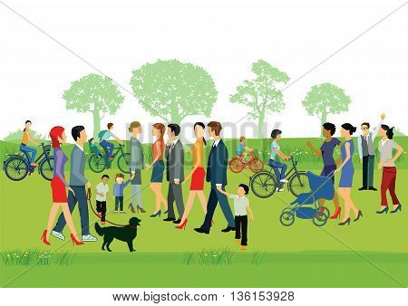people recreation in the park,  people  group