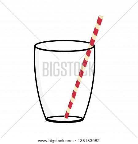 Organic and Healthy food concept represented by juice glass icon. isolated and flat illustration