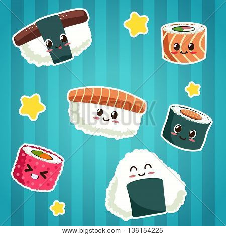 Cute Japanese Food Stickers