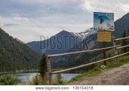 Kolsay mountain lake in Kazakhstan may 2016