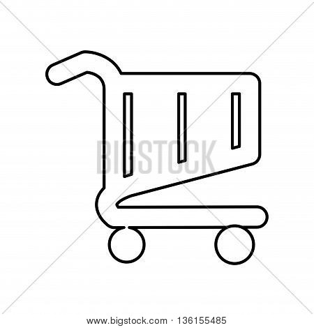 Commerce concept represented by shopping cart icon. isolated and flat illustration