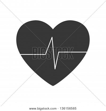 Healthy lifestyle and fitness concept represented by cardio heart icon. isolated and flat illustration
