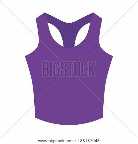 Healthy lifestyle and fitness concept represented by cloth icon. isolated and flat illustration