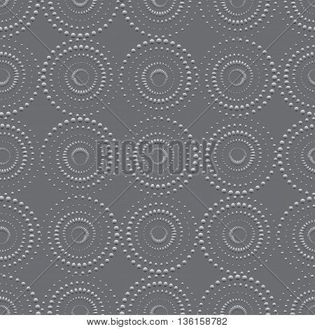 Vector illustration of seamless background with rounds