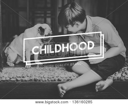 Bestfriends Human Dog Childhood Concept