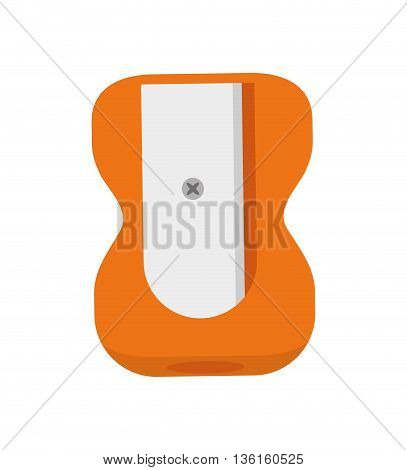 School and education concept represented by pencil sharpener icon. isolated and flat illustration