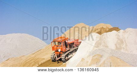 digger, old heavy duty construction equipment, industrial series