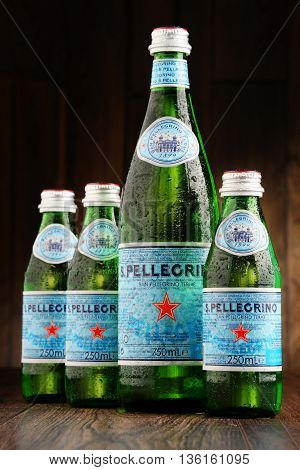 Bottles Of San Pellegrino Mineral Water