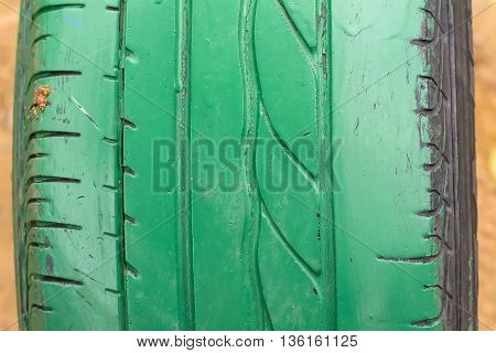 Old Tires Green