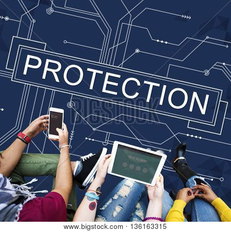 Protection Surveillance Safety Privacy Policy Concept