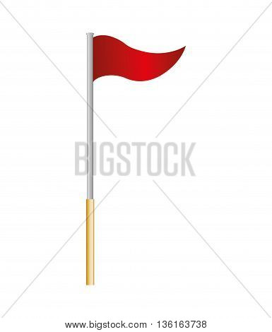 flag concept represented by red pennant icon. isolated and flat illustration