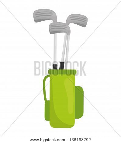 Golf Sport concept represented by club icon. isolated and flat illustration