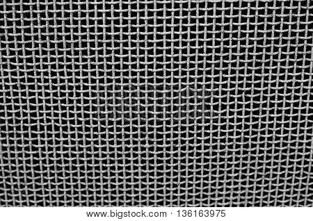 The Old Iron Grid On A Black Background Texture