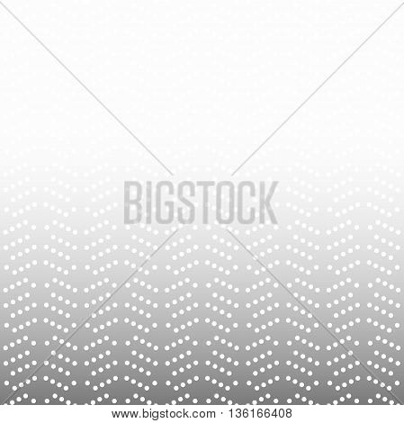 Geometric light silver ornament with dotted pattern. Seamless abstract background