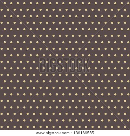 Seamless geometric modern pattern. Fine brown and golden ornament with dotted elements