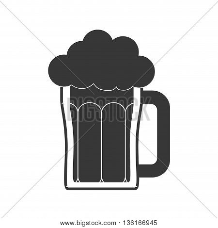 Drink and beverage concept represented by beer icon. isolated and flat illustration