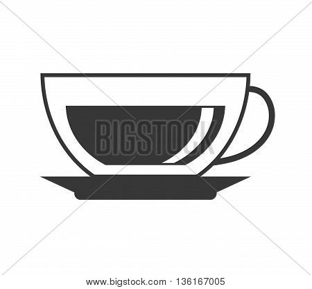 Drink and beverage concept represented by coffee mug icon. isolated and flat illustration