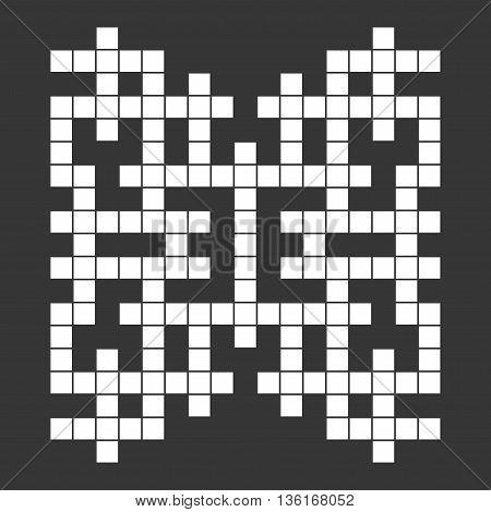 Empty Squares British-style Crossword Grid. Vector illustration