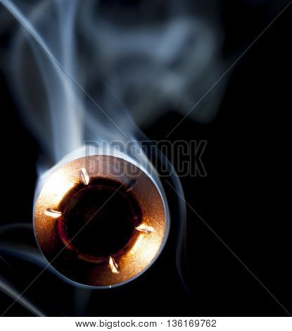 Bullet and smoke that looks like it will strike the camera