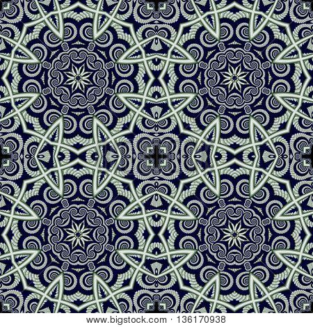 Abstract seamless openwork background with circle ornament. You can use it for invitations carpets covers phone cases postcards cards lacy napkin. Artwork for creative design.