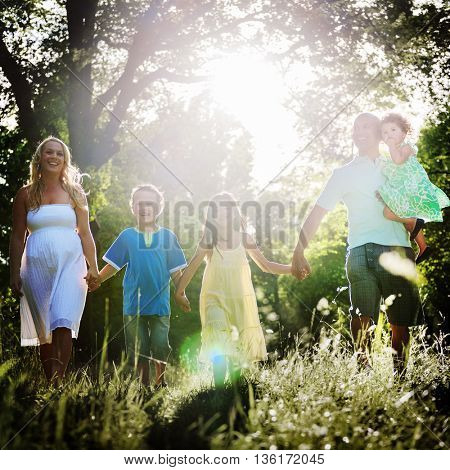 Family is Everything Holiday Relax Concept