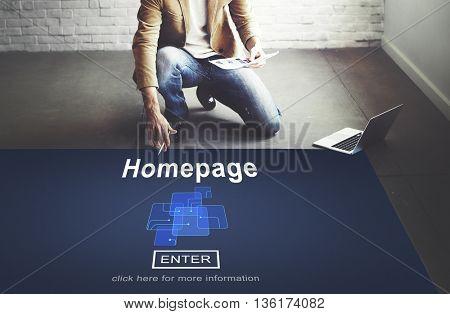 Homepage Online Technology Internet Website Concept