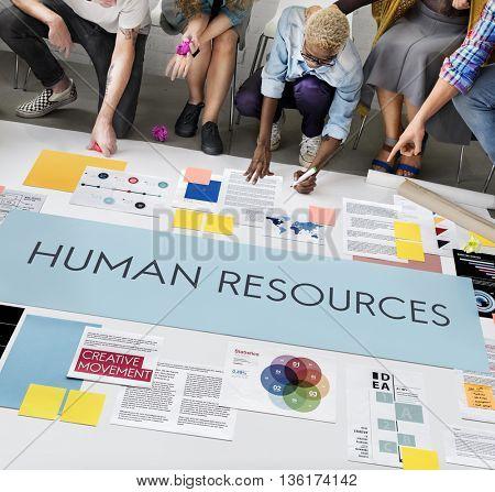Human Resources Jobs Recruitment Profession Concept