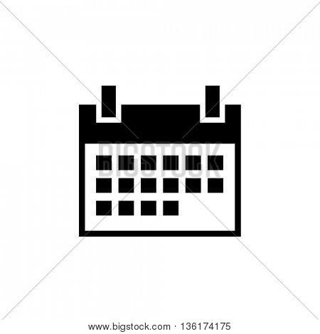 Calendar icon on white