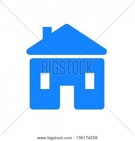 An house icon on white