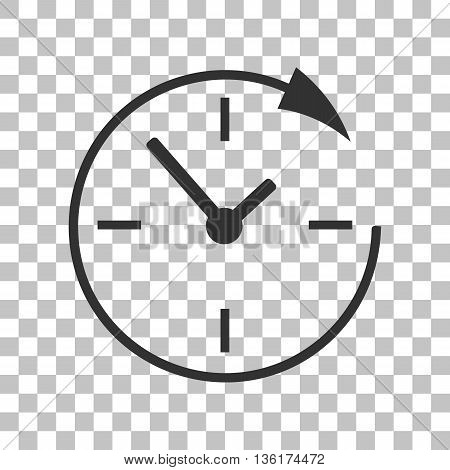 Service and support for customers around the clock and 24 hours. Dark gray icon on transparent background.