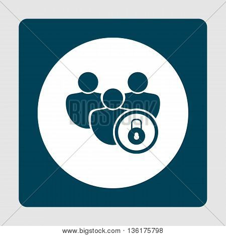 Lock Close Icon In Vector Format. Premium Quality Lock Close Symbol. Web Graphic Lock Close Sign On