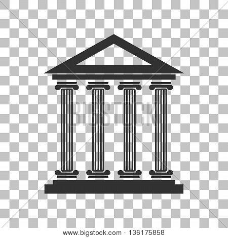 Historical building illustration. Dark gray icon on transparent background.